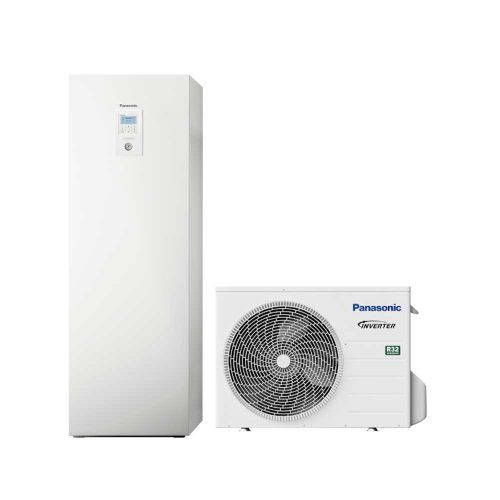 Osztott hőszivattyú (Hűtő-Fűtő) 3 fázisú 200 l-es HMV tartállyal -20°C-ig 100% teljesítmény Működési tartomány: -28°C +35°C Kilépő víz: max 60°C 9 kW kiegészítő fűtőbetéttel szuper csendes kültéri egység